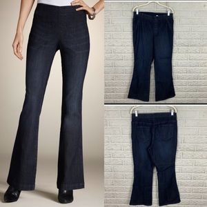 Chico's Platinum Pull On Flare Jeans
